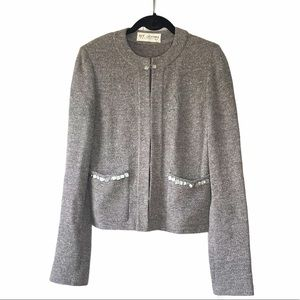 St John Collect Tweed Jacket with shell details
